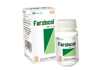 Tác dụng thuốc farzincol 10mg, farzincol 70mg