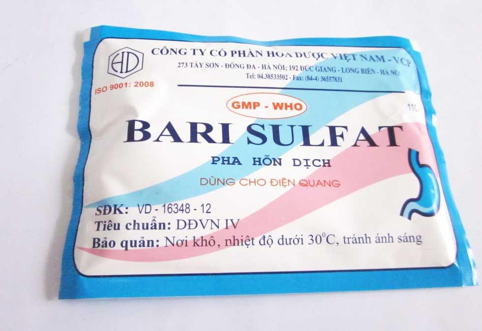 Những điều cần biết về Bari Sulfate - ảnh 1